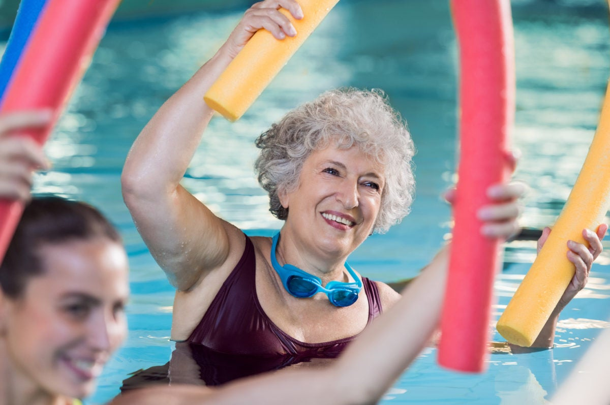 he ultimate low impact exercise, swimming is a great choice for seniors.
