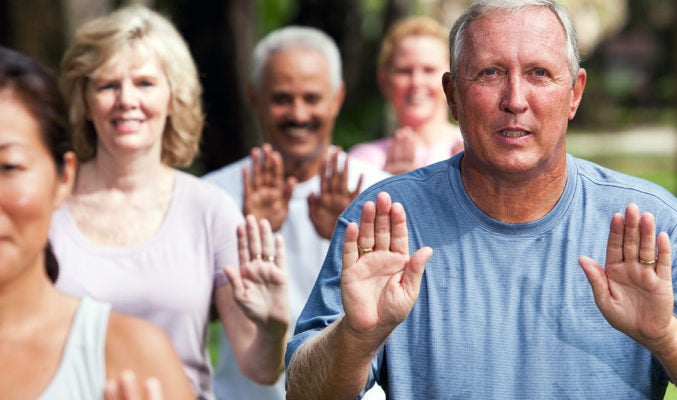 Gentle exercises, like Tai Chi, help keep you active and limber